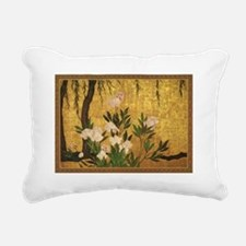 Peonies Rectangular Canvas Pillow