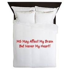 MS Affects My Brain Never My Heart Mar Queen Duvet