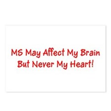 MS Affects My Brain Never Postcards (Package of 8)