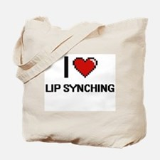 I Love Lip Synching Tote Bag