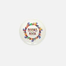 Books Rock Mini Button (10 pack)