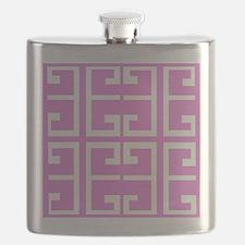 Lavender Block Tiles Flask
