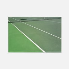 Tennis Court Rectangle Magnet
