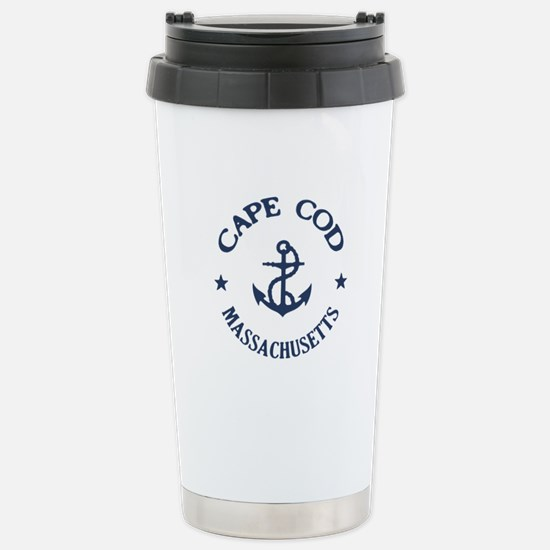 Cape Cod Anchor Stainless Steel Travel Mug