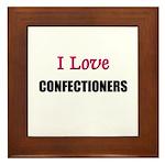 I Love CONFECTIONERS Framed Tile