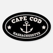 Cape Cod Anchor Sticker (Oval)