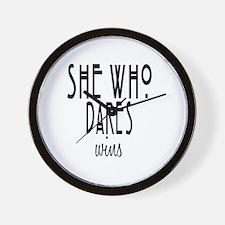 She who dares wins Wall Clock