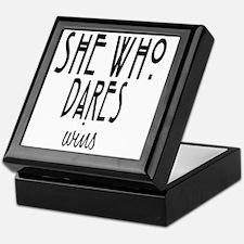 She who dares wins Keepsake Box