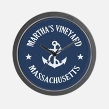 Martha's Vineyard Anchor Wall Clock