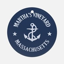 Martha's Vineyard Anchor Ornament (Round)