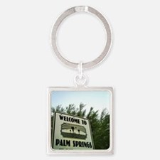 Cute Palm springs Square Keychain