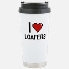 I Love Loafers Stainless Steel Travel Mug