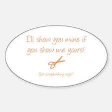 Show me your toys! Oval Decal