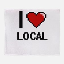 I Love Local Throw Blanket