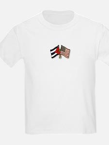 Cuban flag and the U.S. flag T-Shirt