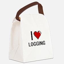 I Love Logging Canvas Lunch Bag