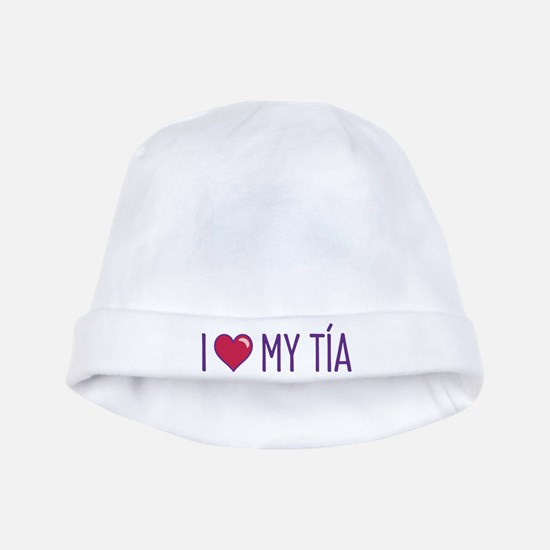 I Love My Tia baby hat
