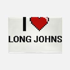 I Love Long Johns Magnets