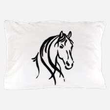 Black Horse Pillow Case