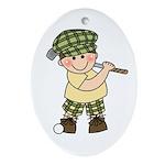 Little Golfer Oval Ornament