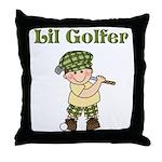 Little Golfer Throw Pillow