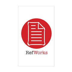 RefWorks Circle with Logo - Rectangle Decal