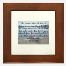 Chief Seattle Framed Tile