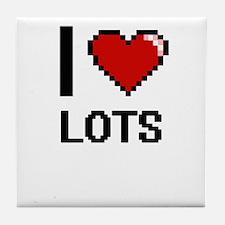 I Love Lots Tile Coaster