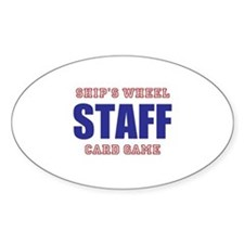 Ships Wheel Card Game STAFF Decal