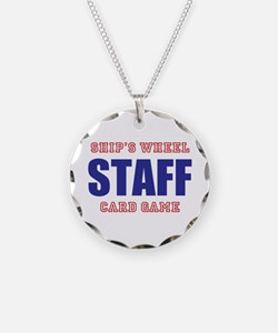 Ships Wheel Card Game STAFF Necklace