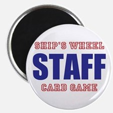 Ships Wheel Card Game STAFF Magnets