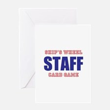 Ships Wheel Card Game STAFF Greeting Cards
