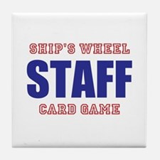 Ships Wheel Card Game STAFF Tile Coaster