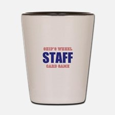 Ships Wheel Card Game STAFF Shot Glass