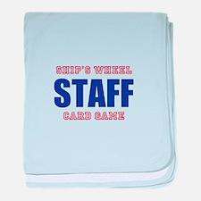 Ships Wheel Card Game STAFF baby blanket