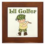 Little Golfer Framed Tile