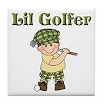 Little Golfer Tile Coaster