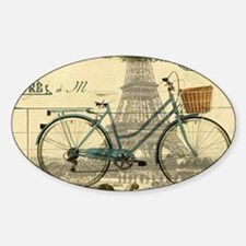 eiffel tower paris bike Decal