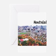 Montreal City Signature upper Greeting Card