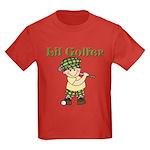 Little Golfer Kids Dark T-Shirt