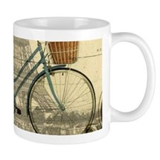 eiffel tower paris bike Mugs