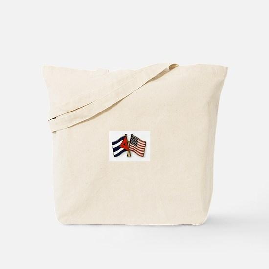 Cuban flag and the U.S. flag Tote Bag