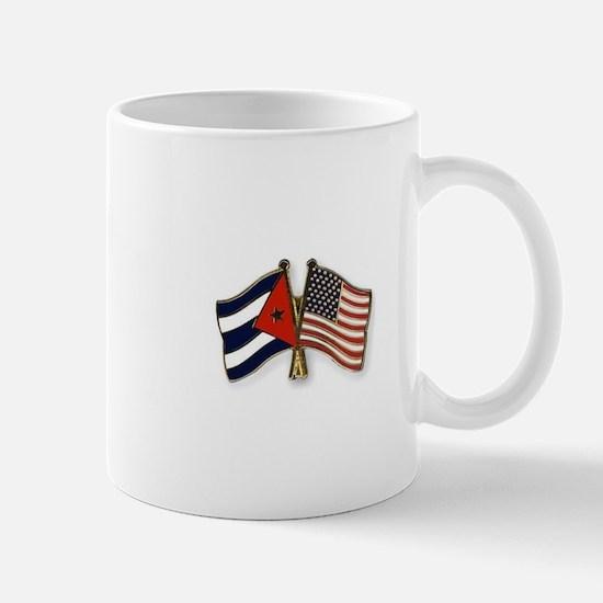 Cuban flag and the U.S. flag Mugs