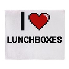 I Love Lunchboxes Throw Blanket