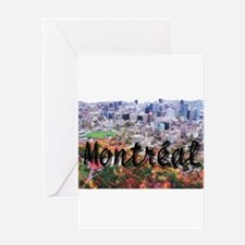 Montreal City Signature cente Greeting Card