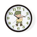 Little Golfer Wall Clock