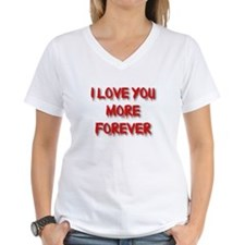 I Love You More Forever Women's V-Neck T-Shirt