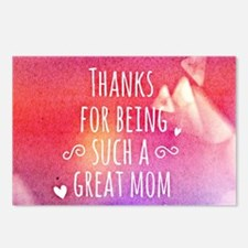 thanks mom Postcards (Package of 8)