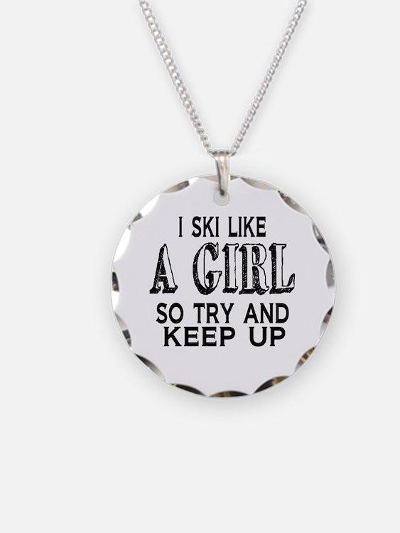 Ski Like a Girl Necklace