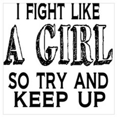 Fight Like a Girl Canvas Art